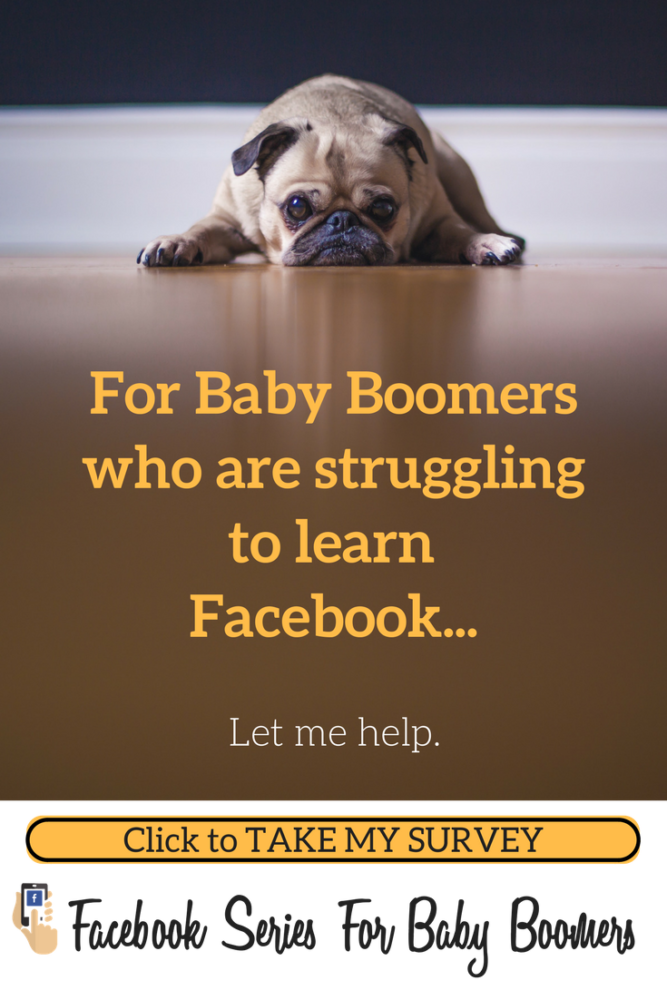 Sad dog doesn't know facebook
