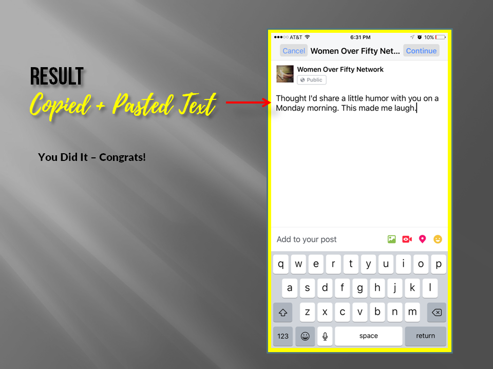 How to Copy and Paste on Facebook From Your iPhone or iPad