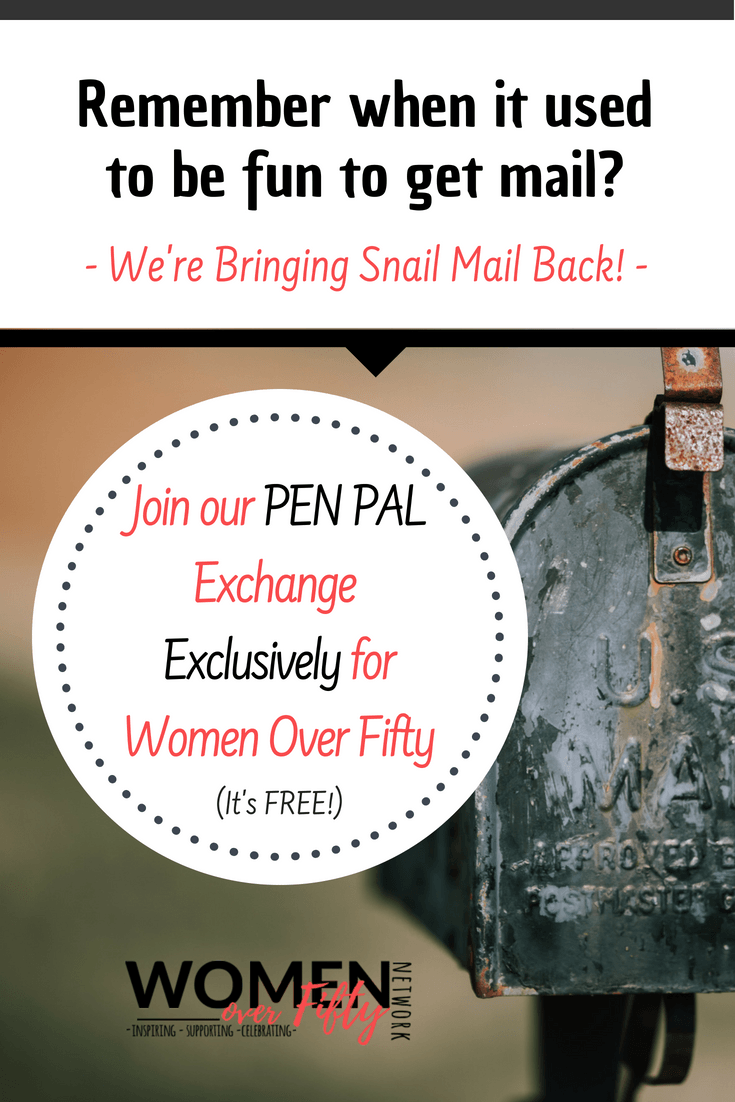Pen Pals For Women Over Fifty | Women Over Fifty Network