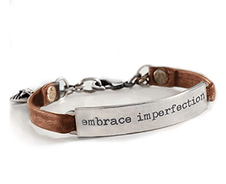 Embrace Imperfection Brown Leather Bracelet